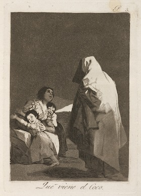 "The brain disease model of addiction is a bogeyman. ""Here Comes the Bogey-Man"" by Goya, circa 1799"