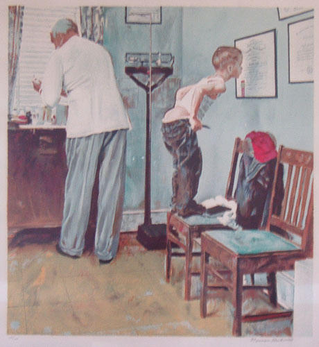 Norman_Rockwell_Before_the_Shot_A_Study_for_the_Doctors_Office