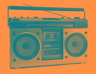 blue boombox