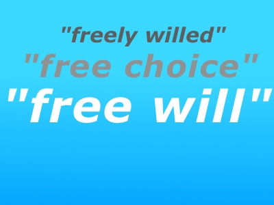 Nora Volkow (NIDA) uses Scare Quotes when referring to Free Will