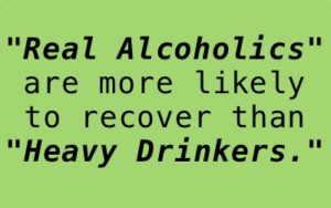 """Real alcoholics"" more likely to recover than ""heavy drinkers"""